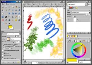 рисование в GIMP