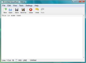 Текстовый редактор KWrite
