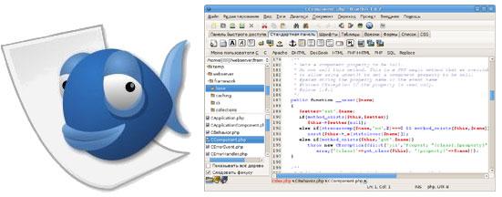 Bluefish - профессиональный HTML-редактор в Linux