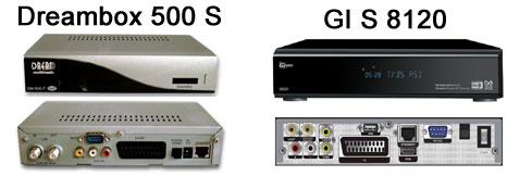 Спутниковые ресиверы Dreambox 500s и GI S 8120