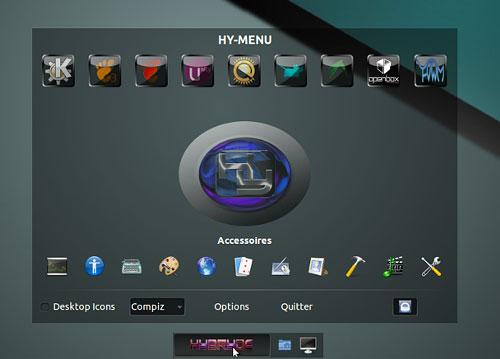 Hybryde Linux 1 — дистрибутив с множеством графических оболочек