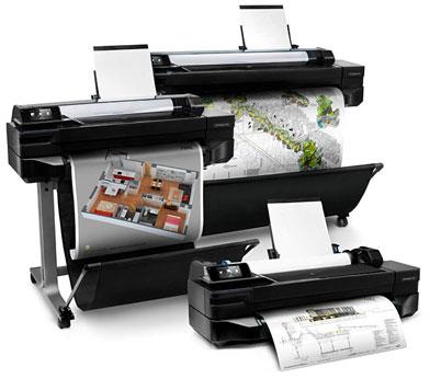 Первые широкоформатные принтеры с Wi-Fi от HP