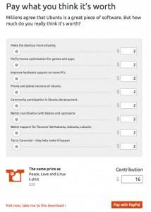 На развитие Ubuntu теперь можно пожертвовать деньги