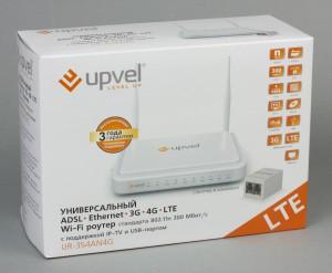 Универсальный роутер модели Upvel UR-354AN4G с поддержкой модемов 4G