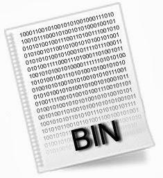 Правила открытия файлов формата bin