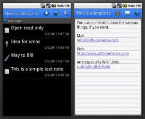 Возможности приложения для смартфонов Note Everything