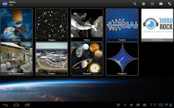 Приложение NASA для Android