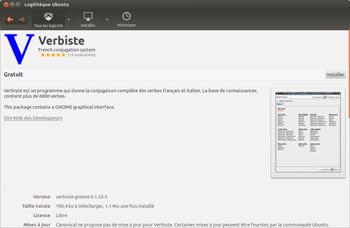 приложение Verbiste для Linux