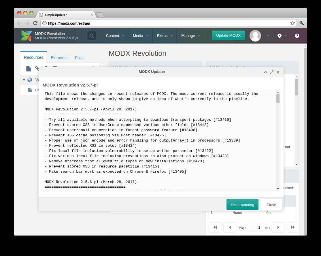 Вышла новая версия MODX 2.6.4